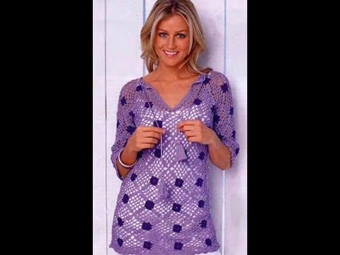 вязание крючком для начинающих туники модели 2019 Knitting The