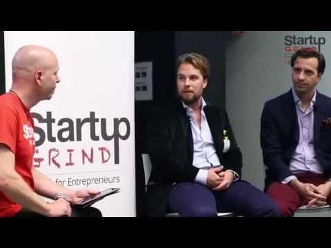 Robert Plantak & Ardian Gjeloshi (Crowdhouse.ch) at Startup Grind Zurich, w/ David Butler