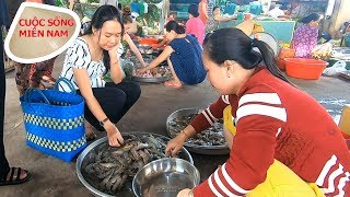 Going to the countryside market in Vietnam