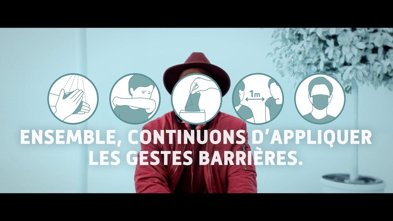 """CAMPAGNE GESTES BARRIÈRES HIVER 2020 : """"ENSEMBLE CONTINUONS D'APPLIQUER LES GESTES BARRIÈRES"""""""