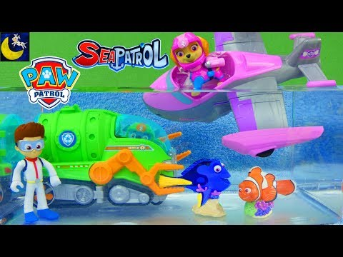 Underwater Adventure Rescue! Paw Patrol Sea Patrol Toys Save Dory Funny Toy Stories for Kids Video!
