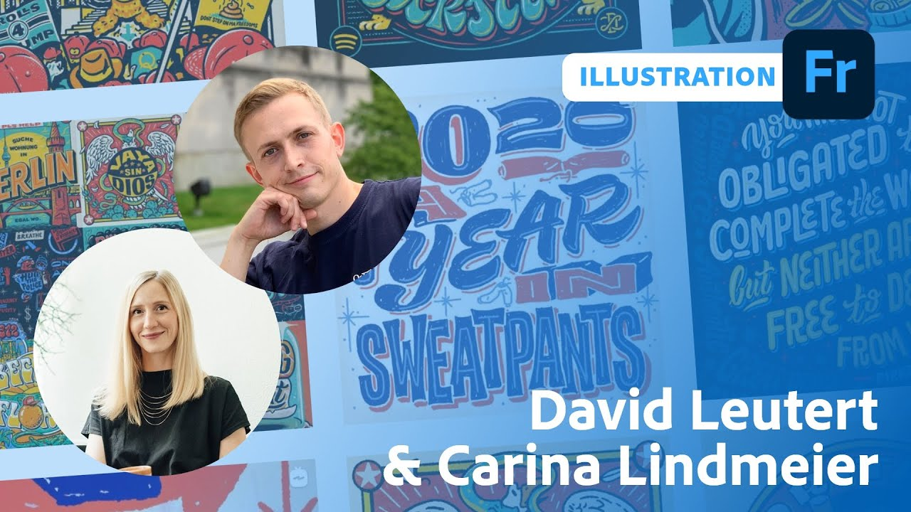 Illustration mit Carina Lindmeier und David Leutert | Adobe Live