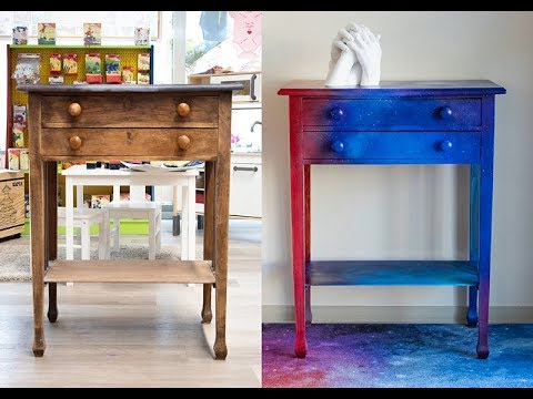 furniture makeover space painting alte mobel bemalen