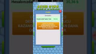 Çevir Oyna Para kazan Uygulamasında Hileyle Kolay para kasma Günde 25 TL Garanti