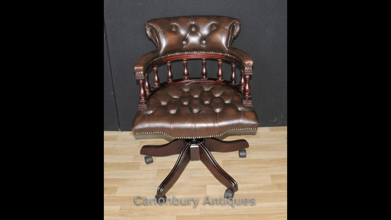 Victorian Office Chair. Modren Chair Victorian Captains Chair Office Swivel  Desk On