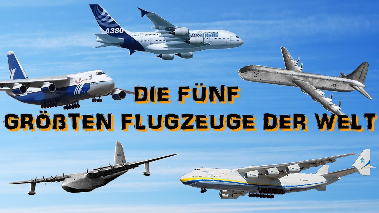 die f nf gr ten flugzeuge der welt youtube. Black Bedroom Furniture Sets. Home Design Ideas