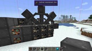 Экскаватор и колонковый бур в Immersive Engineering