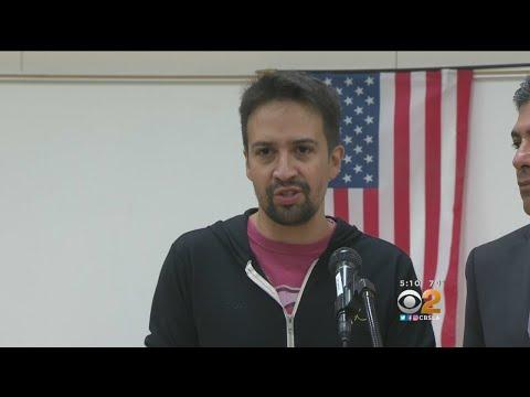 'Hamilton' Creator Visits High School