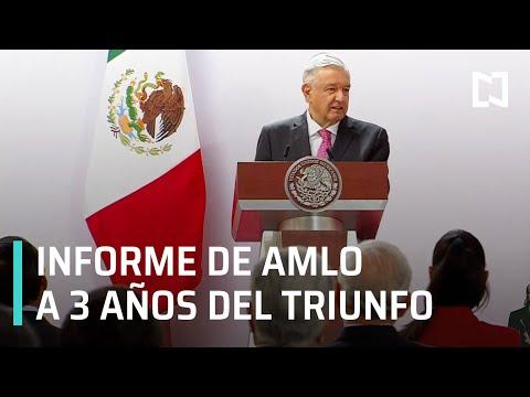 En Vivo: Mensaje de AMLO a 3 años de su elección como presidente de México   Inicia Informe de AMLO
