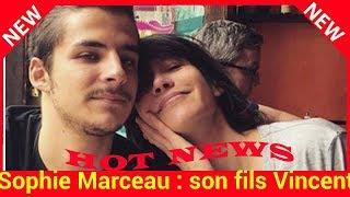 Sophie Marceau : son fils Vincent a changé de look, il est craquant!