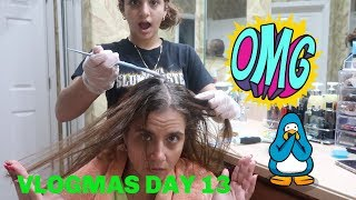 11 YEARS OLD DYEING MOMS HAIR FOR THE FIRST TIME !VLOGMAS DAY 13
