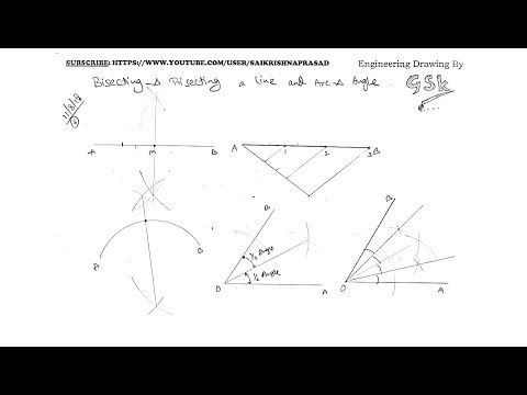 Bisecting & Dividing A LINE, ARC & ANGLE in Engineering Drawing