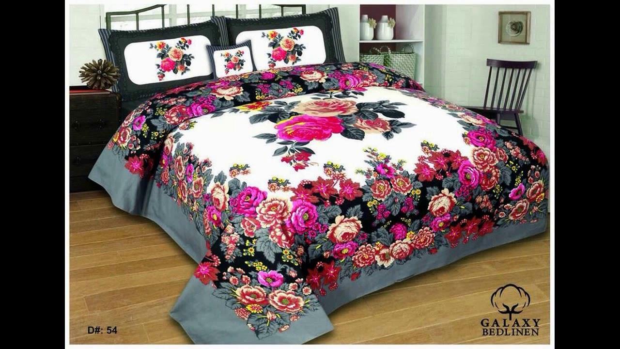 Pink bed sheet design - Latest Design Bed Sheets 2017