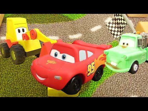 Thumbnail: McQueen toys Disney Pixar cars. Cars toys & cars for kids. Toy cars videos. Lightning McQueen race.