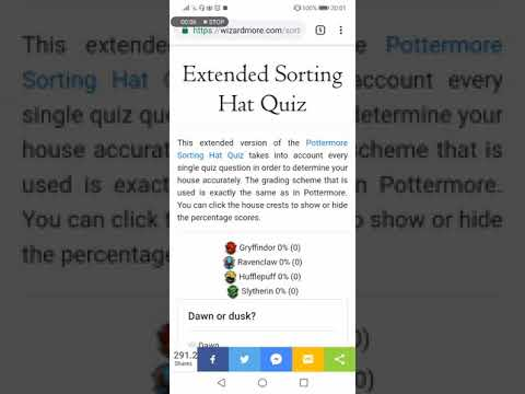 Harry Potter Extended Sorting Quiz playthrough