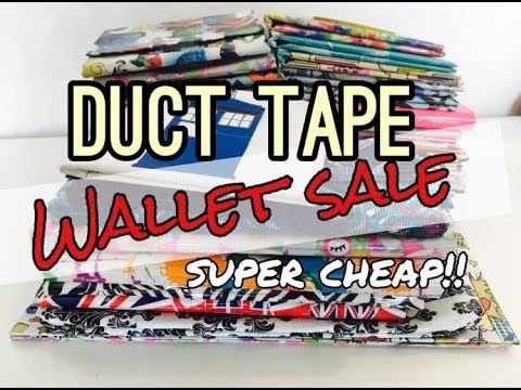 SUPER CHEAP ($3-5) LAST EVER Duct Tape Wallet SALE! (+ channel update)