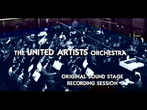 1936 United Artists Orchestra sound stage recording session with Alfred Newman