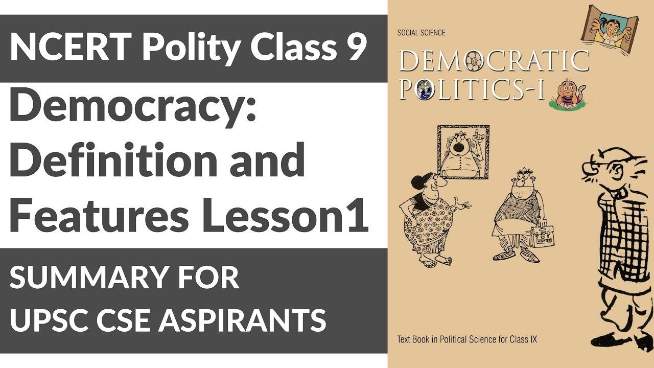 In book ncert democracy india