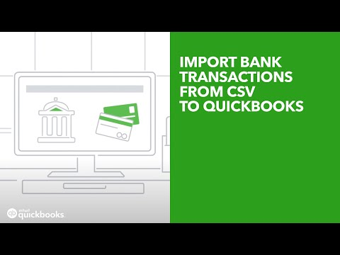 Import bank transactions from CSV to QuickBooks [V