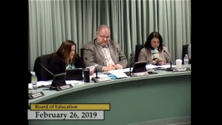 Enfield, CT - Board of Education - February 26, 2019