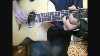 The Boxer. Cover (guitar Chords Close Up Of Fingerpicking).mp4
