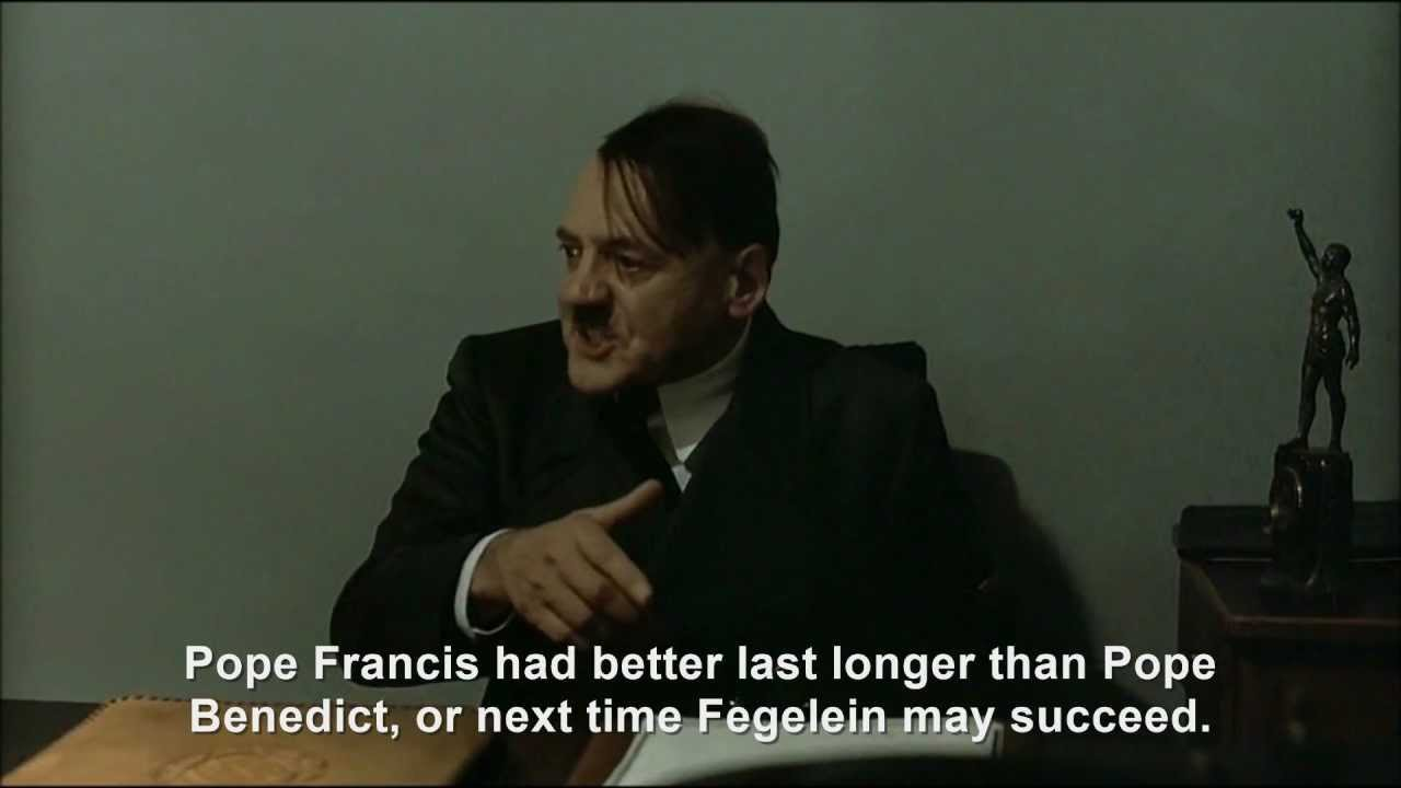 Hitler is informed Pope Francis I is the new Pope