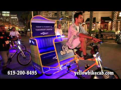 San Diego Convention Center Advertising Ideas - yellowbikecab.com - 619-200-8495