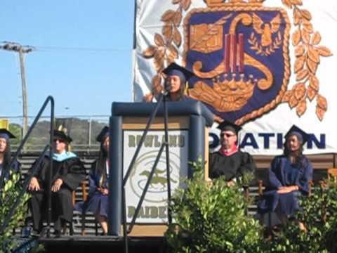 John A. Rowland High School Graduation Speech 2012 - Mariel Bautista