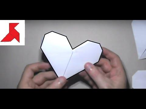 Как сложить сердечко из бумаги а4