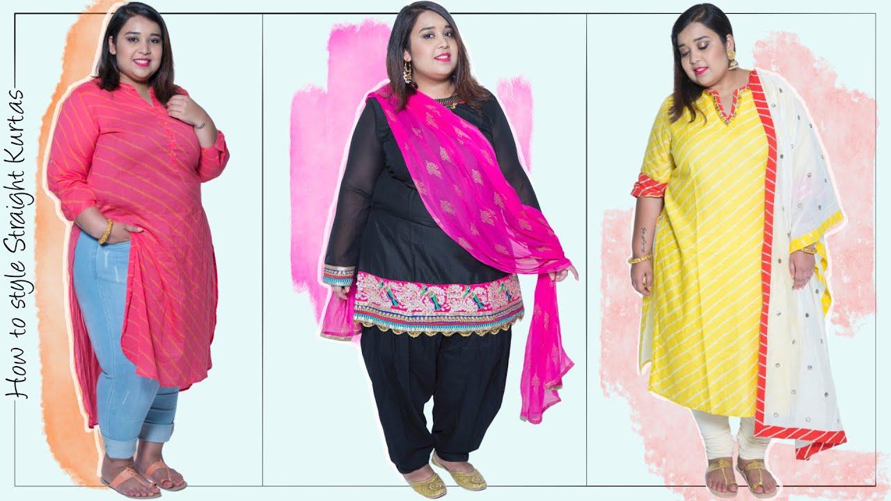 40906111e How To Style Straight Kurtas | Plus Size Fashion Series by Prerna Adsul