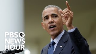 WATCH LIVE: Former President Barack Obama's first public speech since he left office by : PBS NewsHour