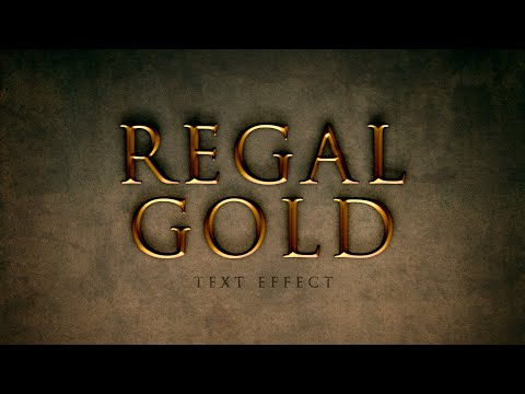Regal Gold Text Effect In Photoshop (Layer Styles Trickery)