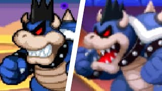 Mario & Luigi: Bowser's Inside Story 3DS - All Bosses Comparison (3DS vs Original)