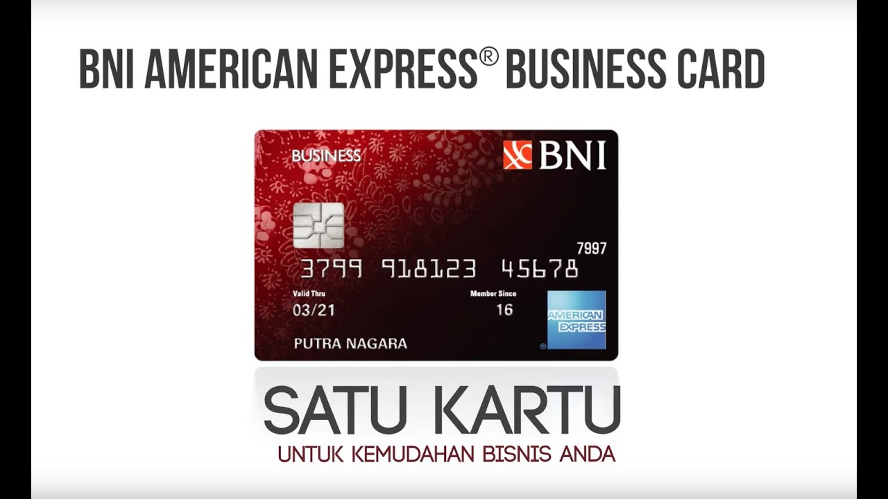 Bni American Express Business Card Youtube