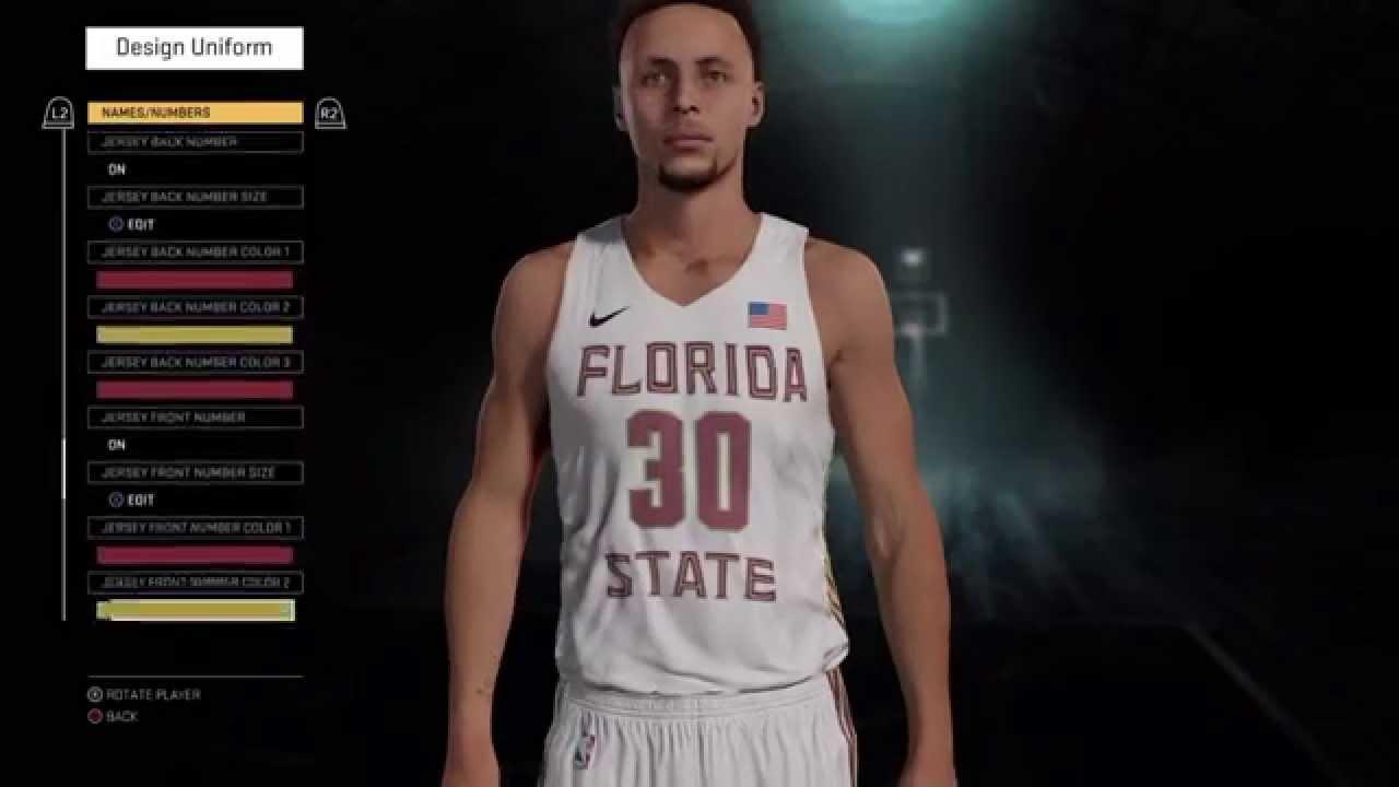 ad7d62aa78c NBA 2k16 My Team - How to Create FSU Go Noles! Custom Uniforms   The ...