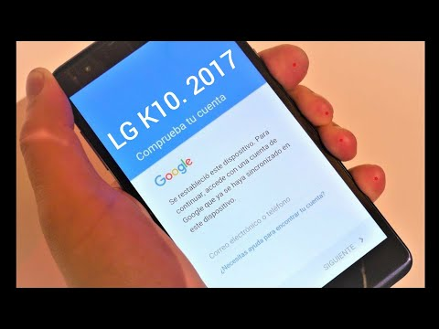 COMO QUITAR O ELIMINAR CUENTA GOOGLE LG K10 2017 NUEVO METODO FACIL 2019 thumbnail