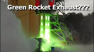 The Story Behind This Green Rocket Exhaust