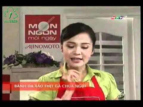 MON NGON MOI NGAY   BANH DA XAO THIT GA CHUA NGOT (BO XOI, CA ROT)