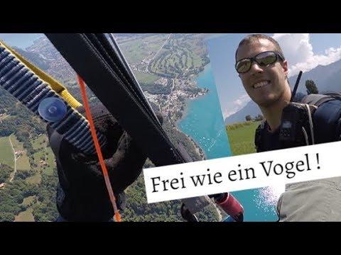 Gleitschirmfliegen Interlaken / Grundkurs Höhenfliegen / mein erster Flug (4K) Go Pro