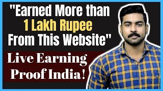 Earned 1 Lakh Rs from this Website free! | Earning Proof | Best Website for Students to Earn Money