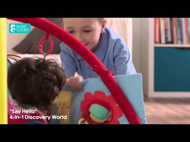 Child East Coast Nursery Baby Kids Say Hello Patchwork Activity Mat