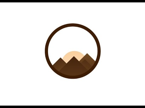logo design illustrator 2017 - adobe illustrator logo design tutorial how to make mountain logo