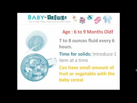 Baby Food Chart -- Guide For New Parents Using Baby Food Chart - YouTube