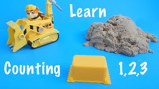 Kinetic Sand Counting Building Blocks Learning Numbers Paw Patrol Rubble