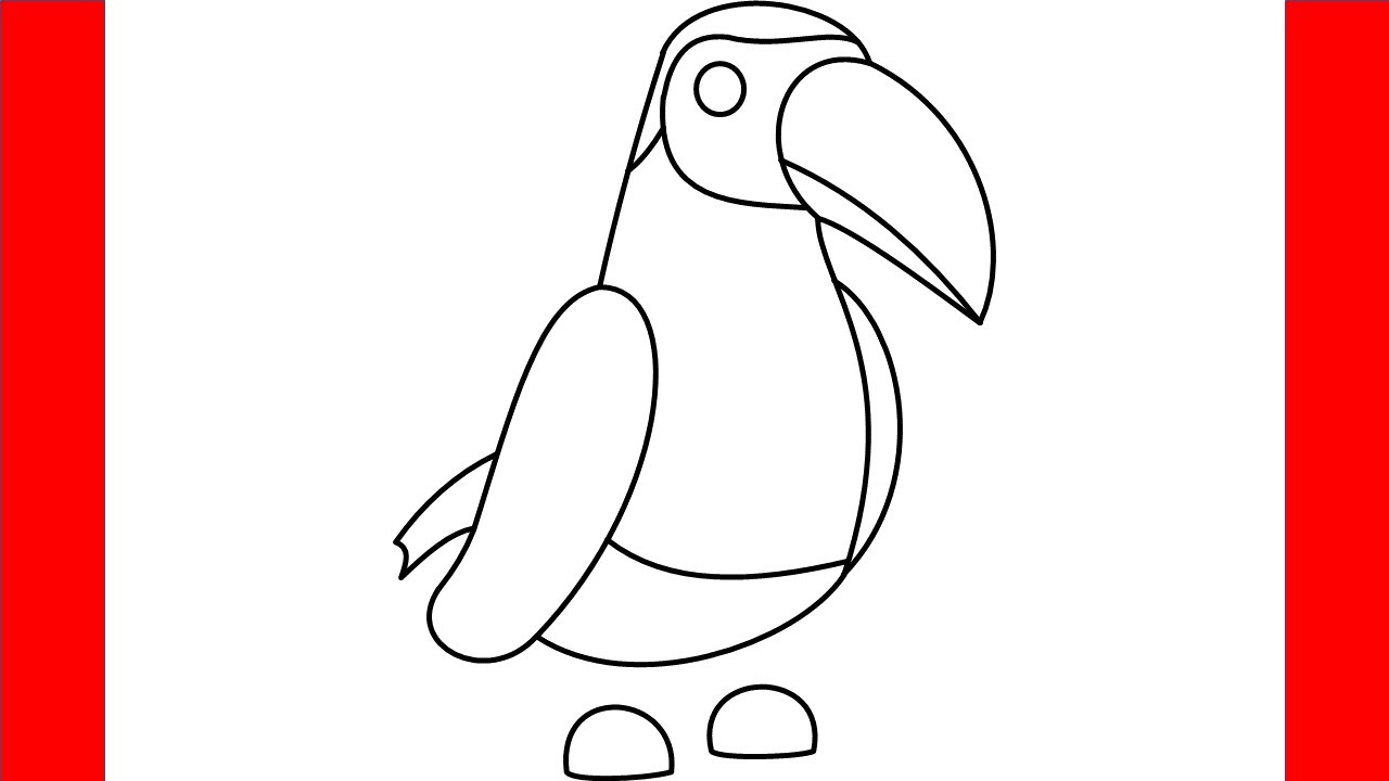 How To Draw A Toucan From Roblox Adopt Me - Step By Step ...