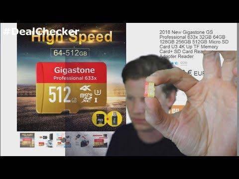 DEALCHECK - 512 GB Speicherkarte für 8 Euro??? von WISH COM