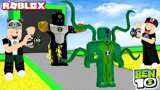 Who's Our Strongest? Ben 10 Factory Building - Roblox Ben 10 Tycoon with Panda