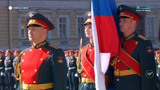 Парад войск Санкт-Петербургского  гарнизона ЗВО на Дворцовой площади 9 мая 2018 года
