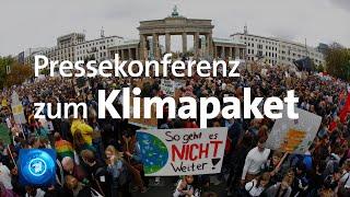 Maßnahmen zum Klimaschutz - Die Pressekonferenz zum Klimapaket der Großen Koalition.