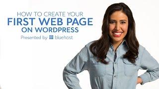WordPress İlk Web Sayfası Oluşturmak için nasıl